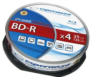 Przykład płyty Blu-ray: Esperanza BD-R 25GB