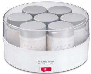 SEVERIN JG3516 – przykład jogurtownicy z kilkoma kubkami