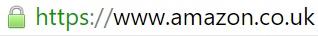Strona Amazon zabezpieczona protokołem SSL