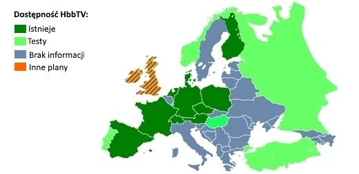 W jakich krajach dostępne jest HbbTV?