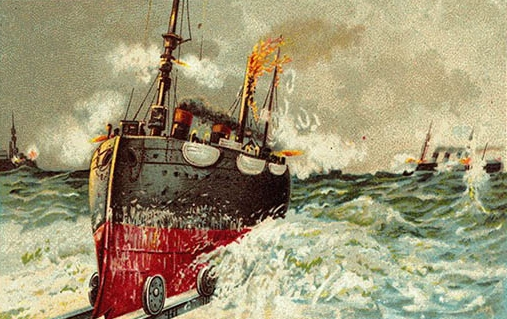 Pociąg na morzu