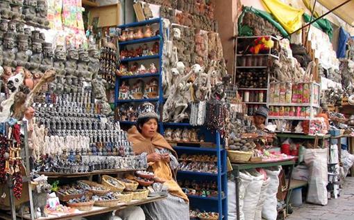 Rynek czarownic w La Paz