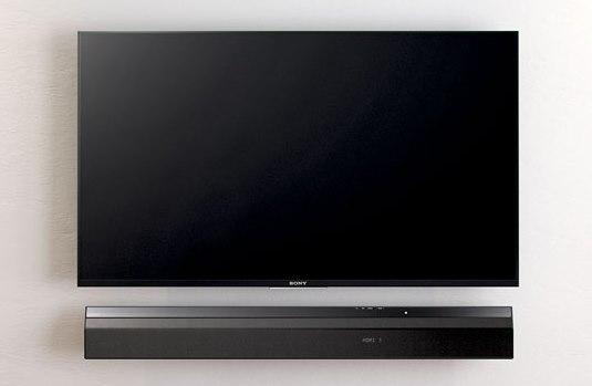 Soundbar umieszczony pod telewizorem