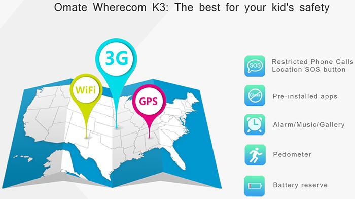 Omate Wherecom K3 info