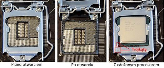 Montowanie procesora Intel
