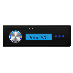 Zdjęcie poglądowe radia samochodowego