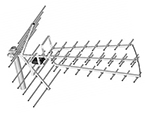 Dipol 44/21-69 Tri Digit ze wzmacniaczem LNA-177